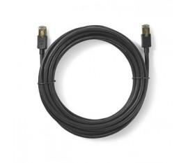 Câble Cat 6 | RJ45 (8P8C) Mâle | RJ45 (8P8C) Mâle | F/UTP | 20.0 m | Rond | PVC LSZH | Anthracite | Boite avec Fenêtre