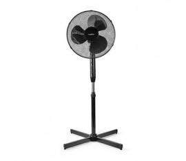 Support de ventilateur   Diamètre: 400 mm   3 Vitesses   Oscillation   40 W   Hauteur réglable   Minuterie d'arrêt   Télécommande   Noir