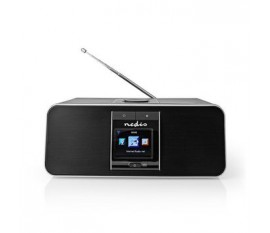 """Radio internet   Conception de table   Bluetooth® / Wi-Fi   DAB+ / FM / Internet   2.4 """"   Écran couleur   42 W   Télécommandé   Application contrôlée   Sortie casque   Réveil   Minuterie de sommeil   Noir"""