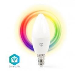 Ampoule SmartLife toute couleur | Wi-Fi | E14 | 350 lm | 4.5 W | Blanc Chaud / RGB | 2700 K | Android™ & iOS | Diamètre: 37 mm | Bougie