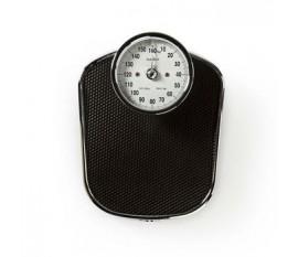 Pèse personne numérique | Analogique | Noir | Caoutchouc | Plateforme de pesée antidérapante | Capacité de pesée maximale: 160 kg