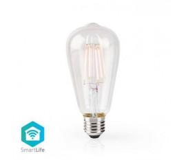 LED SmartLife à intensité variable | Wi-Fi | Nombre de produits dans l'emballage: 1 pièces | E27 | 500 lm | 5 W | Blanc Chaud | 2700 K | Verre | Android™ & iOS | ST64
