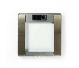Échelle personnelle | Numérique | Argent | Verre trempé | Capacité de pesée maximale: 180 kg | Analyse du corps