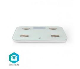 Pèse-Personne Intelligent SmartLife | Wi-Fi | BMR / Eau / Graisse / Muscles / Os / Poids | 8 Emplacements Mémoire | Charge max.: 180 kg | Android™ & iOS | Verre | Blanc