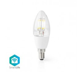 LED SmartLife à intensité variable   Wi-Fi   E14   400 lm   5 W   Blanc Chaud   2700 K   Verre   Android™ / IOS   Bougie