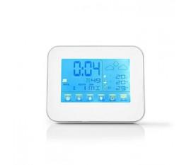 Staion météo   Intérieur et extérieur   Y compris capteur météo sans fil   Prévisions météorologiques   Affichage de l'heure   Écran LCD couleur   La fonction de réveil