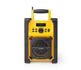Radio FM de Chantier | 15 W | Bluetooth® | IPX5 | Poignée de Transport | Jaune/Noir