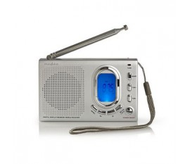 Radio FM | 1,5 W | Récepteur International | Alarme | Gris