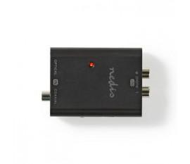Convertisseur numérique vers audio stéréo | 1 entrée - RCA numérique (S/PDIF) + TosLink | 2x RCA (stéréo)