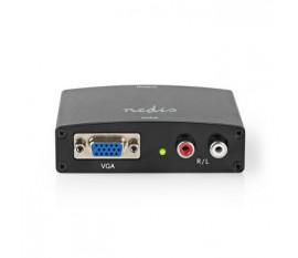 Convertisseur VGA vers HDMI™ | 1 Entrée - VGA + 2 Entrées RCA (G/D) | Sortie HDMI™