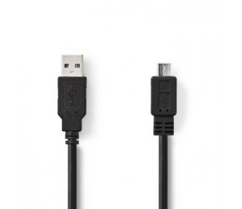 Câble USB 2.0   A Mâle - Micro B Mâle   3,0 m   Noir