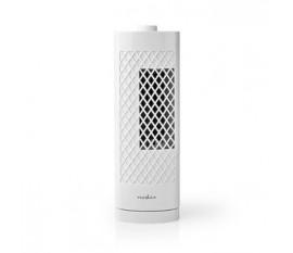 Ventilateur Colonne de Bureau   Hauteur 30 cm   3 Vitesses   Oscillation   Blanc