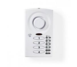 Alarme pour Porte/Fenêtre Mince Commandée par Clavier avec Capteur Magnétique | 3 Modes d'Alarme