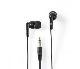 Écouteurs Filaires | Câble Rond de 1,2 m | Intra-Auriculaires | Noir