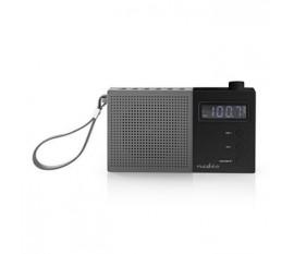 Radio FM | 2,1 W | Horloge et Alarme | Bouton de Réglage Multifunction | Gris/Noir