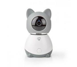 Caméra IP d'Intérieur Wi-Fi Intelligente Nedis | Panoramique/Inclinaison | Full HD | Suivi Automatique | Avec Berceuse | Capteur de Climatisation