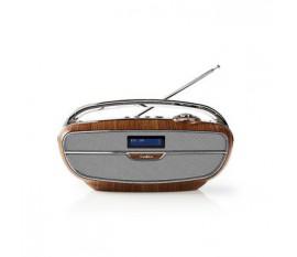 Radio DAB+ Numérique | 60 W | FM | Bluetooth® | Marron/Argent