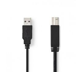 Câble USB 2.0 | A Mâle - B Mâle | 3,0 m | Noir