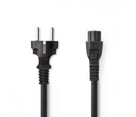 Câble d'Alimentation | Schuko Mâle - IEC-320-C5 | 2,0 m | Noir