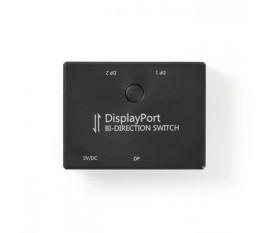 2 Ports | Commutateur DisplayPort Bidirectionnel | Noir