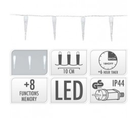 ICICLE LIGHTING | 100 LED | 9.9 METER LIGHTING | WHITE