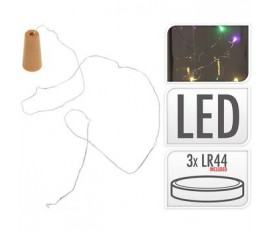 BOTTLE STOPPER 8 LED MULTI