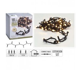 CONNECTABLE CHRISTMAS LIGHTS | EXTENSION SET | 100 LED | WARM WHITE | 230 V