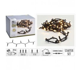 CONNECTABLE CHRISTMAS LIGHTS | STARTER SET | 200 LED | WARM WHITE | 230 V