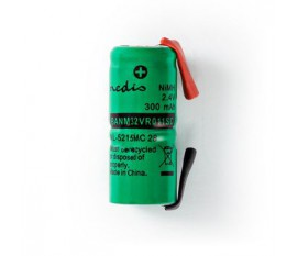 Batterie Nickel Métal-Hydrure | 2,4 V | 300 mAh | Connecteur à Souder