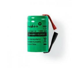 Batterie Nickel Métal-Hydrure   1,2 V   1 000 mAh   Connecteur à Souder