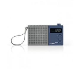 Radio FM | 2,1 W | Horloge et Alarme | Bouton de Réglage Multifunction | Gris/Bleu