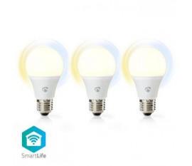 Ampoules LED Intelligentes Wi-Fi | Blanc Chaud à Blanc Froid | E27 | Lot de 3