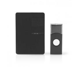Kit pour sonnette sans fil | Alimentation sur Secteur | Signal Lumineux | Noir