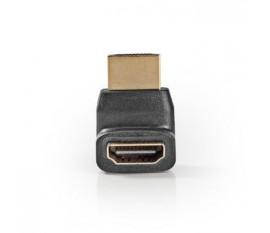 Adaptateur HDMI Coudé à 270° | Connecteur HDMI - HDMI Femelle | Noir