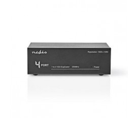 4 ports | Répartiteur VGA | Noir