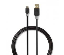 Câble USB 2.0   A Mâle - Micro B Mâle   3,0 m   Anthracite