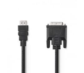 Câble HDMI™ vers DVI   Connecteur HDMI™ - DVI-D Mâle à 24 + 1 Broches   3,0 m   Noir