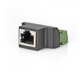 Connecteur de Sécurité CCTV | Câble à 8 Fils vers Connecteur Female RJ45
