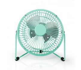 Metal Mini Fan | 15 cm Diameter | USB Powered | Turquoise