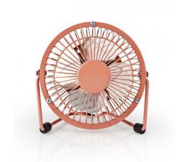 Mini-Ventilateur Métallique | Diamètre de 10 cm | Alimenté par USB | Vieux Rose