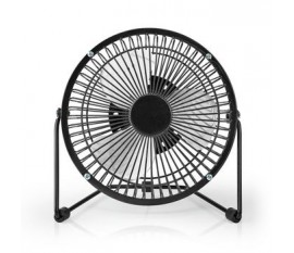 Metal Mini Fan | 15 cm Diameter | USB Powered | Black