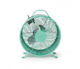 Ventilateur de Bureau Rétro | Diamètre 25 cm | 2 Vitesses | Turquoise