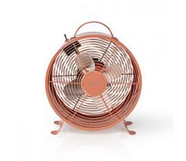 Ventilateur de Bureau Rétro | Diamètre 25 cm | 2 Vitesses | Rose Vintage
