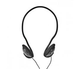 Écouteurs Filaires | Câble Rond de 2,1 m | Supra-Auriculaires | Noir
