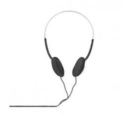 Casque d'Écoute Filaire | Câble Rond de 6,0 m | Supra-Auriculaire | Noir