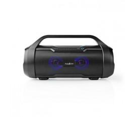 Boombox de Fête | Autonomie d'Écoute de 9 heures | Bluetooth® | Radio TWS | Feux de Fête | Noire