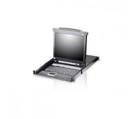 """8-Port KVM Switch Console LCD 17"""" Noir"""