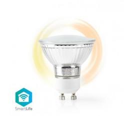 Ampoule LED Intelligente Wi-Fi | Blanc Chaud | GU10 | Réglable sur Blanc Très Chaud (1 800 K)