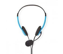 Casque pour PC | Supra-auriculaire | 2X Connecteurs 3,5 mm | 2,0 m | Bleu