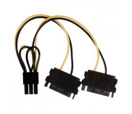 Câble d'alimentation interne 2x SATA mâle à 15 broches - PCI Express Femelle 0.15 m